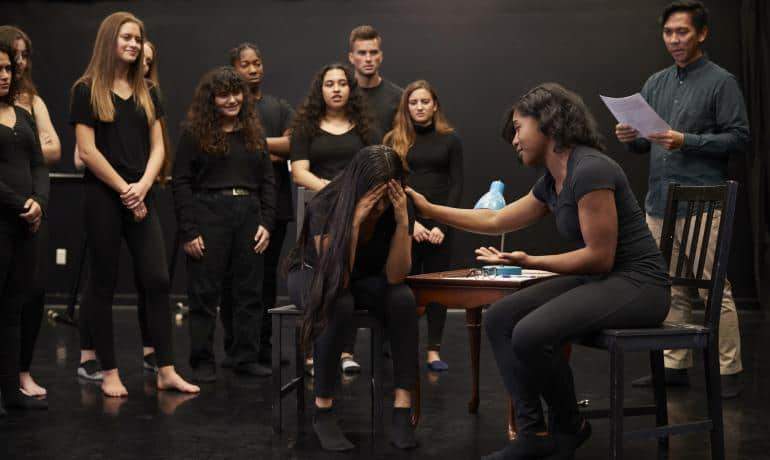 Kommunikation och drama, tre rum - det fysiska, sociala och mentala rummet